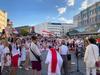 Today, Betlin, Menschenkette in solidarity of lithuania, latvia, estonia with belarus! It was beautifuk!
